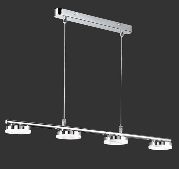 Trio Suspension Lampes Rennes R32414106 Métal Led Chrome 4 edrxBWCo