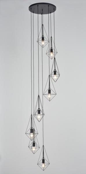 Pr503239 Suspension Lampes Corep 8 Bijou Noir Métal Design m0OyP8vnNw
