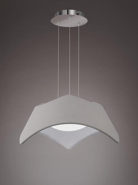suspension avec abat jour mantra maui gris acrylique 4815 suspensions avec abats jours chez. Black Bedroom Furniture Sets. Home Design Ideas