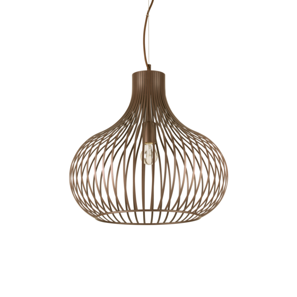 Lux Marron Suspension Design Onion 205304 Métal Ideal Lqzgjsupmv