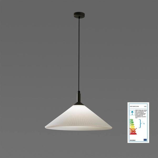 Suspension ext rieure contemporaine faro hue gris fonte d for Suspension contemporaine