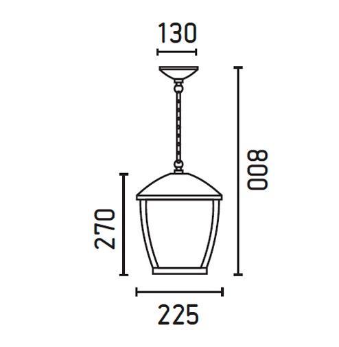 suspension ext rieure design faro wilma gris anthracite. Black Bedroom Furniture Sets. Home Design Ideas