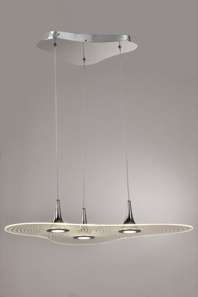 Métal Lo Design Chrome Lo00016479 Lampes Acrylique Led 3 Nimbus Suspensions Verre dBWxoCre