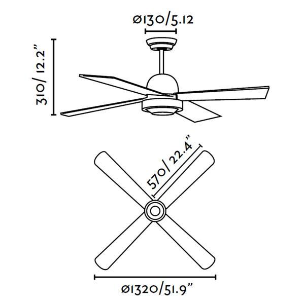 Ventilateur de plafond Faro Ibiza Blanc 33284