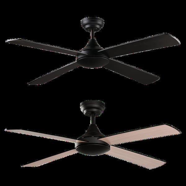 Ventilateur de plafond sans lumière ACB Raki Noir Bois V250452XN
